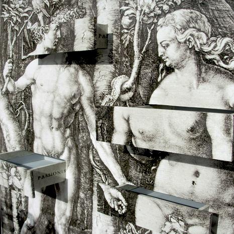 EVA E ADAN OGGETTI SCENOGRAFICI ALLESTIMENTO FILGREEN BUENOS AIRES