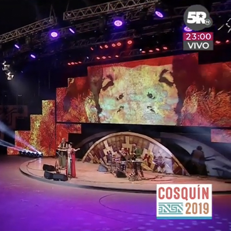 LA CHARO ART DIRECTION VIDEO IMMAGINI FESTIVAL COSQUIN ARGENTINA
