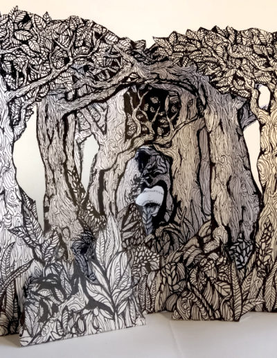 Into the woods Ink on paper Pop Up